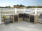 Outdoor BBQ with Sink and Refrigerator