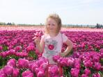 Neice in Tulip Fields