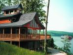 Colucci Log Cabins on the Ohio River, Herons Nest.