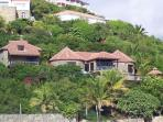 STONE HOUSE... beautiful 4 BR villa overlooking Oyster Pond...can walk to Dawn beach