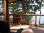 Generous deck space with awsome views!