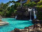 Imagine swimming under the 19' waterfall at the Ho'olei pool area