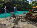 Spectacular Ho'olei pool area includes a 19 foot waterfall and perfectly heated pool