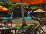 Sun or shade?  Your choice at the Ho\'olei Pool area