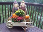 Porch all dressed-up for fall!