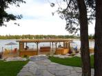 Our 2400 sq ft dock is complete with communal bbq's, dining area and hot tub.
