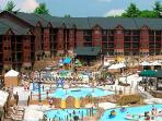 3 outdoor waterparks on the grounds