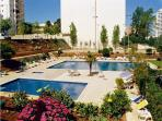 Gardens, pools and tennis court