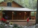 Front of Lazy Bears Creekside Cabin