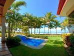 La Costa villa right on black sand beach ideal for surfing with plunge pool & daily housekeeping
