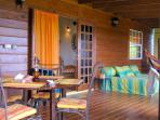 Full Width Porch for Dining, Relaxing or Sleeping