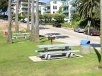 For your convinience, beach has picnic tables, bathrooms, and lifeguard.