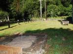 Regulation Horseshoe pits and ping pong for your entertainment