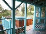 Porch out to hot tub