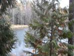 view from unit of Elmer's Fishing Pond
