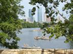 Unmotorized boats of all kinds are available on Lady Bird Lake- we have coupons for rentals