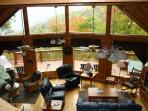 Smoky Sunrise log home overlooking Maggie Valley