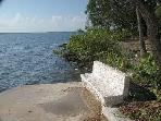bench on middle dock- one of three docks