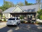 Club house with two bath rooms/showers, heated pool & hot tub!