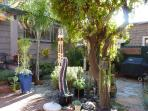 Beautiful Garden, Totem Pole and BBQ.