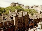 Candlemaker Row and Edinburgh Castle