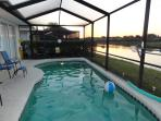 Evening sunset from the pool deck