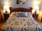 Comfy King Bed in the Master