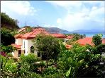 Delightful Villa Bellamare with pool, view on Mahoe Bay and beach access