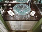 Floating Glass Sink adds luxury to your bathroom