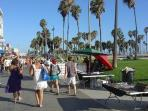 Ocean Front Walk - just steps to bike/skate rentals, shops, restaurants, & local