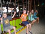 Hanging out on the swings at La Buena Vida!