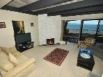 Living Room with Panoramic Lake View
