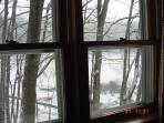 Lake view from side living room window