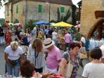 Annual flea market in Montcabrier on 15th August