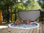 Relax in our Large Hot Tub