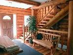 Log Staircase to Upstairs