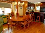 Spacious dining table seats 10.