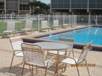 Plenty of chairs at the pool