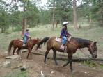Horseback riding at Rocky Mountain National Park.