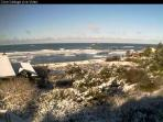 Rare snow as seen from our web cam