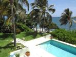 Beachfront Whispering Winds private, gated residence with pool & sun terrace off the master