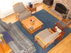 living room area from above