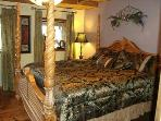 Master King Bedroom Suite - plush mattress & sumptuous bedding; private bathroom with walk-in shower