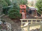 View of the kids playground from the front porch