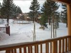 View From Deck (Jump over and play in the snow or just put on your gear and go)