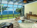 Puu Poa 201: Oceanfront luxury + Bali Hai views AND a/c in this 2000sf condo