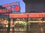 Walk , Bus, or Cab to.. Pike Place Market - America's Premier Public Market