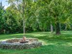 Outdoor Fire Pit with seating for 15 - firewood provided