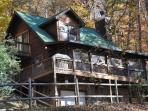 Whispering Woods – Large Log Cabin in the Trees, Main Floor Bedroom – Wood Burning Fireplace – Screened Porch, Outdoor Firepit & Wi-Fi