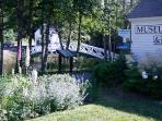 Somesville Bridge and Museum next to house